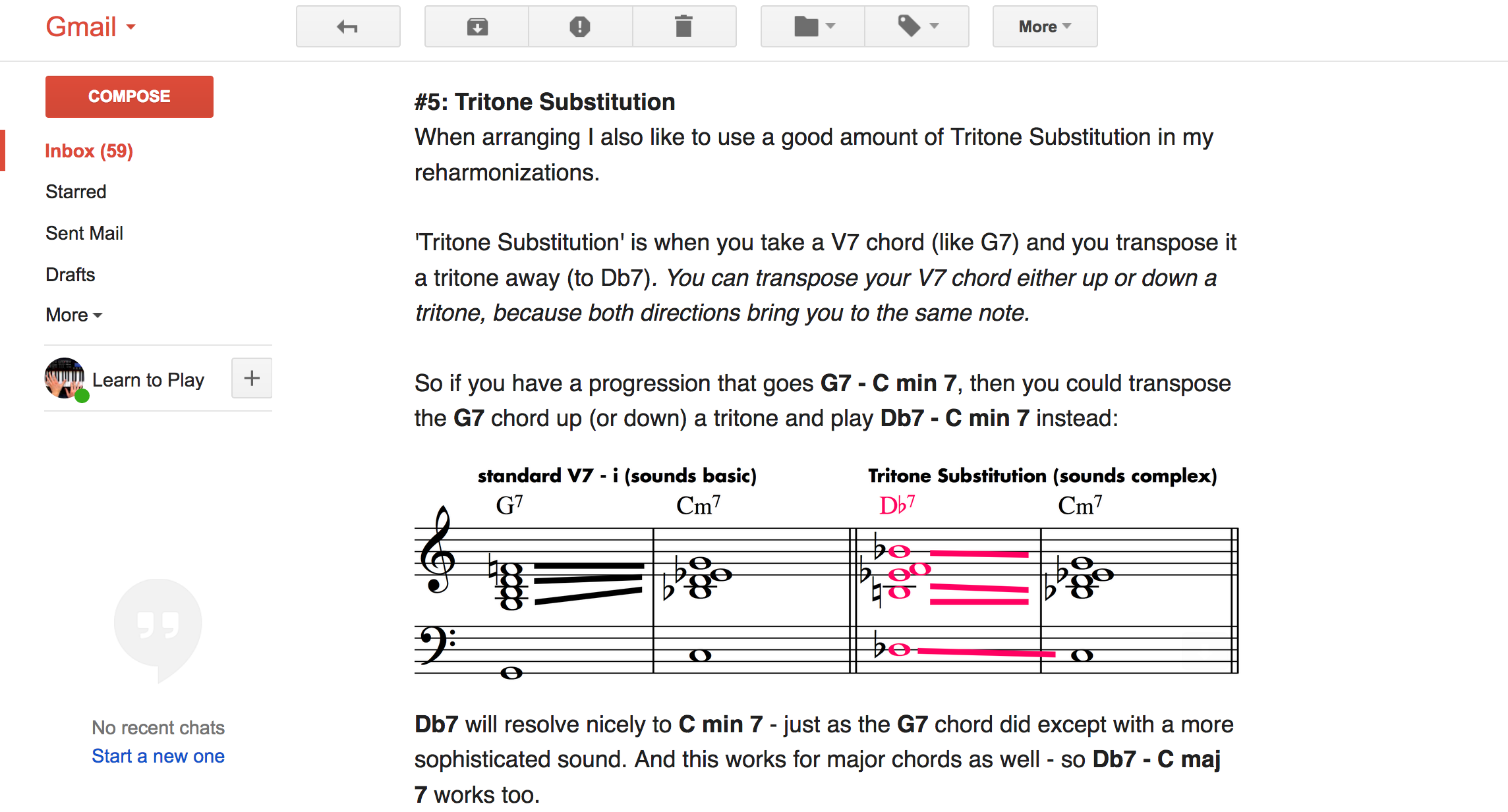 Jazz Tutorial Email tips